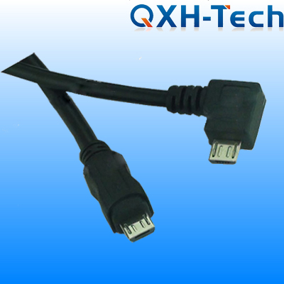USB cable with right angle